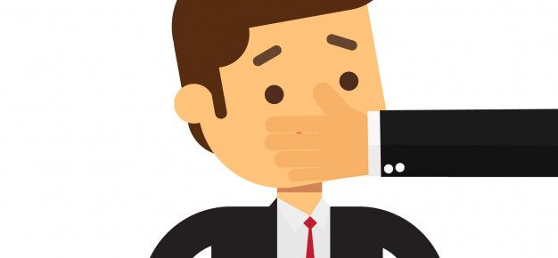 businesssman silence is bad for business