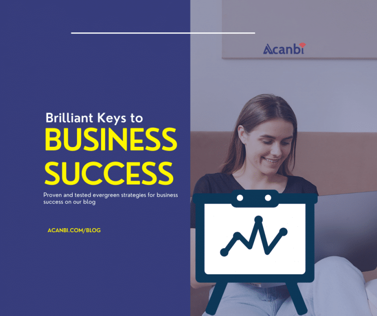 Brilliant keys for business success