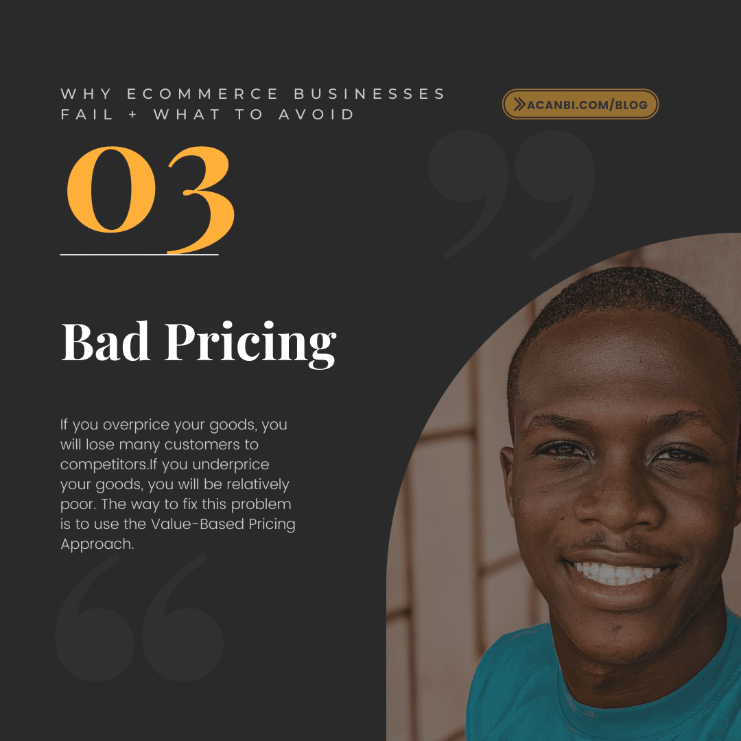 Bad Pricing- Why eCommerce Businesses Fail