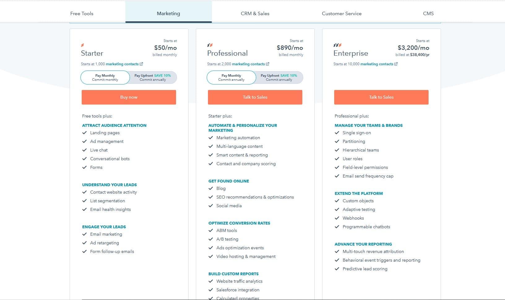 hubspot pricing   Mailchimp Alternative