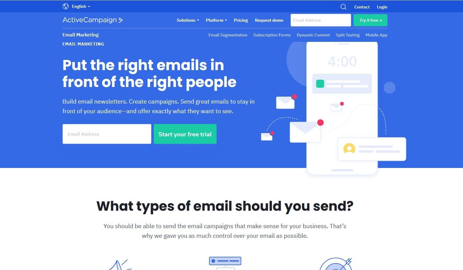 activecampaign Mailchimp Alternative   email marketing