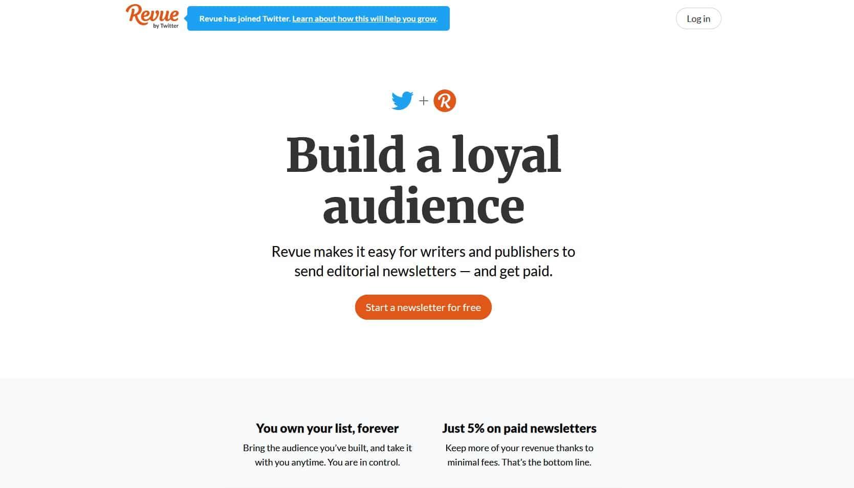 revue Mailchimp Alternative   email marketing